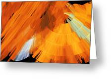 Tutu Stage Left Abstract Orange Greeting Card