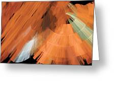 Tutu Stage Left Peach Abstract Greeting Card