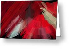 Tutu Stage Left Red Abstract Greeting Card
