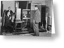 Tv Demonstration At Bell Labs Greeting Card