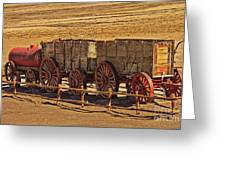 Twenty-mule Team In Sepia Greeting Card