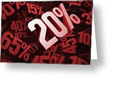 Twenty Per Cent Discount Greeting Card