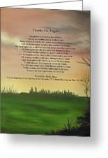 Twenty Six Angels Greeting Card by Ricky Haug