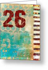 Twenty-six Stripes Greeting Card