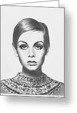 Twiggy - Pencil Greeting Card