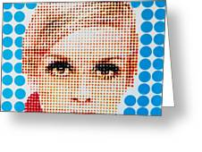 Twiggy Blue Dot  Greeting Card by Grant  Swinney