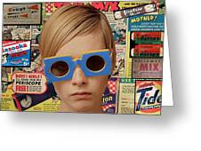 Twiggy Pop  Greeting Card by Chandler  Douglas