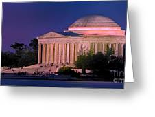 Twilight At The Jefferson Memorial Greeting Card