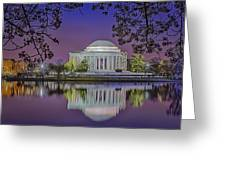 Twilight At The Thomas Jefferson Memorial  Greeting Card
