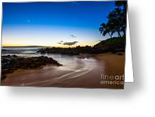 Twilight Beach - Beautiful And Secluded Secret Beach In Maui. Greeting Card