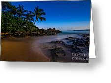 Twilight Beach Greeting Card