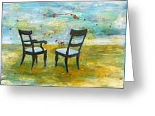 Twilight - Chairs Greeting Card by Deborah Allison