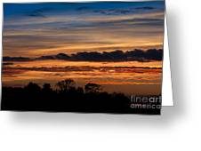 Twilight Colorful Sunset Greeting Card