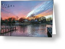 Twilight Colors Greeting Card