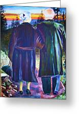 Twilight Couple Greeting Card by Linda Vaughon