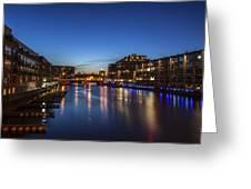 Twilight Docks Greeting Card