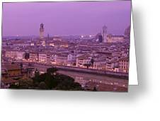 Twilight, Florence, Italy Greeting Card
