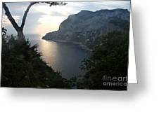 Twilight Glow In Capri Greeting Card