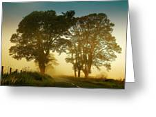 Twilight Guardians. Misty Roads Of Scotland Greeting Card by Jenny Rainbow
