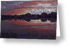 Twilight In Pasco Greeting Card