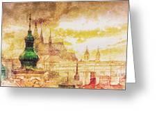 Twilight In Praha Greeting Card