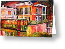 Twilight In The Garden District Greeting Card