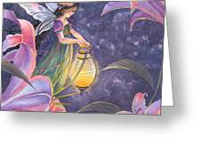 Twilight Lilies Greeting Card