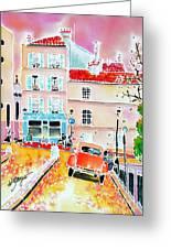 Twilight Montmartre Greeting Card