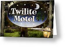 Twilight Motel Greeting Card