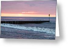 Twilight On A Beach Greeting Card