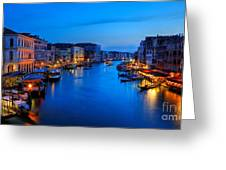 Twilight On The Grand Canal Greeting Card