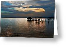 Twilight On The Neuse River Greeting Card