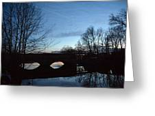 Twilight On The Potomac River Greeting Card