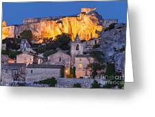 Twilight Over Les Baux Greeting Card