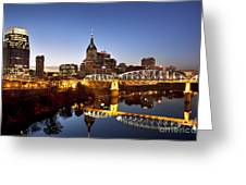 Twilight Over Nashville Tennessee Greeting Card
