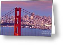 Twilight Over San Francisco Greeting Card