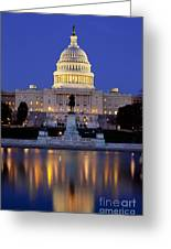 Twilight Over Us Capitol Greeting Card