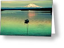 Twilight Sail Greeting Card
