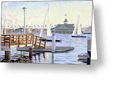 Twilight Sail Greeting Card by Steve Simon