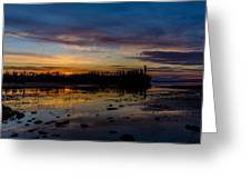 Twilight Silhouette At Candle Lake Greeting Card