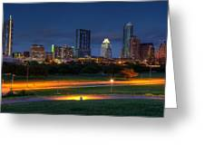 Twilight Skyline Greeting Card