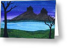 Twin Castles Greeting Card