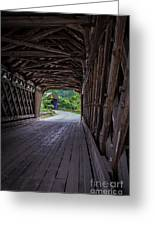 Twin Covered Bridges North Hartland Vermont Greeting Card