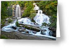Twin Falls Flows Forth Greeting Card