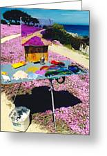 Oceanview Pinks Greeting Card