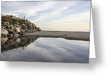 Twin Lakes Beach Greeting Card