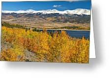 Twin Lakes Colorado Autumn Landscape Greeting Card