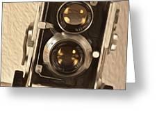 Twin Lens Reflex Redux Greeting Card