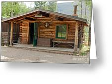 Twin No. 1 Cabin At The Holzwarth Historic Site Greeting Card