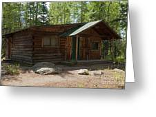 Twin No. 2 Cabin At The Holzwarth Historic Site Greeting Card